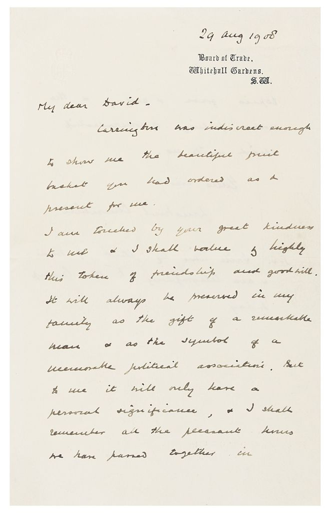 CHURCHILL, Winston Spencer Autograph letter signed ('Winston...